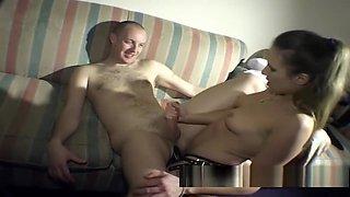 Strap on mistress pegging her slave