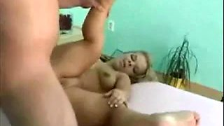 Blonde Midget fuck a hat man