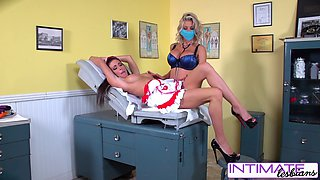 Intimate Lesbians - Jessica, Puma and Nicole fucking naughty in the office