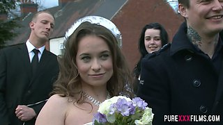 Fantastic giant breasted bride Stacey Saran deserves some perfect missionary
