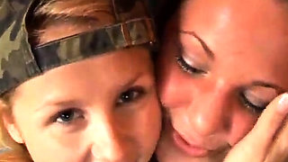 Lesbian family threesome first time Two delicious blond