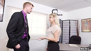 Juicy Ass Blond Secretary Valerie Exploited By Her Boss