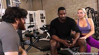 My big black cock fitness session