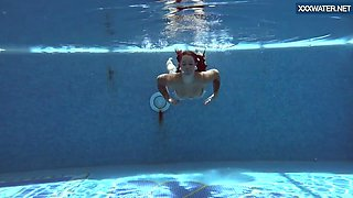 Puzan Bruhova fat teen in the pool