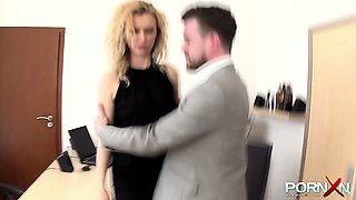 Abusing your secretary anal hard and deep