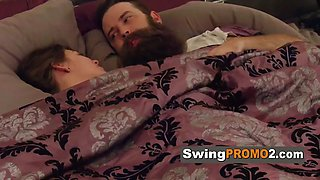 Swingers first time is a foursome group