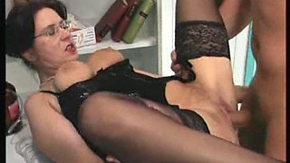 Penetrating her shaved pussy makes the excited bod go crazy