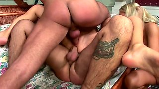 hard assfucking foursome