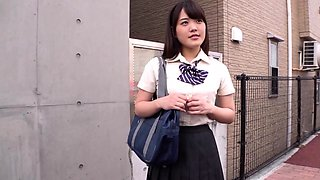 Japanese AV chick in school uniform hardcore orgy