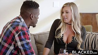Samantha Saint's pussy gets wrecked by a big black monster cock