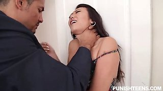 sweet Asian cutie gets miko dai punishment by her stepfather