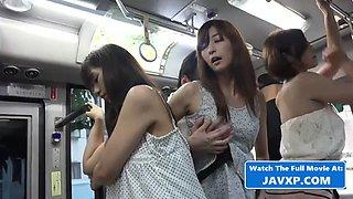 Hot asian teen sluts on the public bus