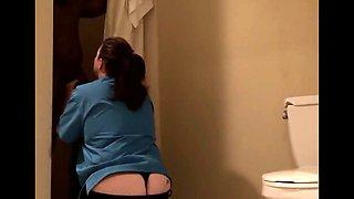 Housekeeping Services Black Dick In Hotel Bathroom