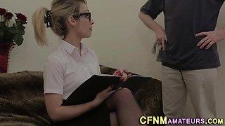Classy clothed amateur
