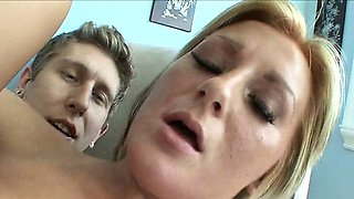Brother Fucking Sisters Hot Blond Friend With Facial