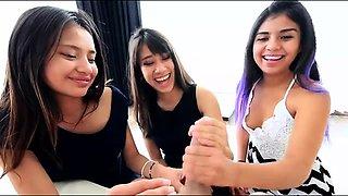 Three Latina Sisters Take Turns Getting Fucked