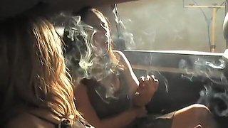 Incredible homemade Smoking, Car xxx movie