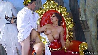 Big tits smoking hot babe deserves big hard dick