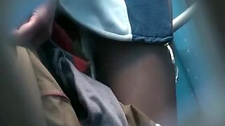 Teen caught peeing in public toilet