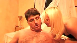 Two slutty mistresses humiliating a guy
