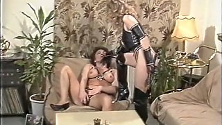 Insatiable and wild orgy with classic white milf sluts