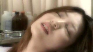 Dazzling slim girl reaching an orgasm