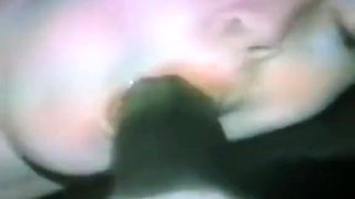 A blond wife has aggressive fuck by her darksome