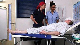 Brit nurse domina jerking